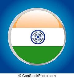 India flag round icon