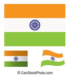 india flag set