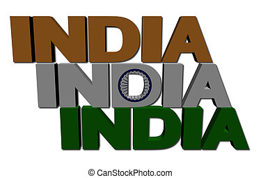 India flag text illustration