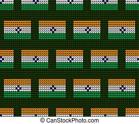 India Flag vector illustration.India Flag. National Flag of India.