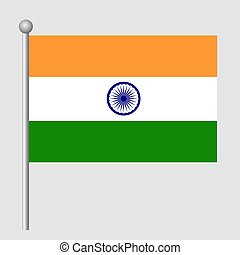 India flag vector template background realistic copy