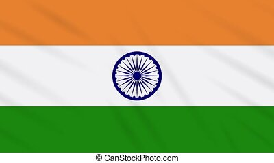 India flag waving cloth, ideal for background, loop