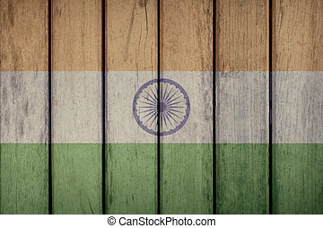 India Flag Wooden Fence