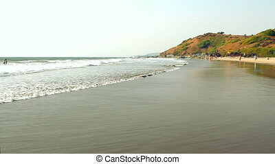India Goa Vagator beach February 20, 2013. Seaside view.