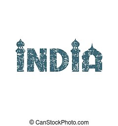 India. Hand lettering. - India hand lettering handmade...