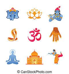 india, icone