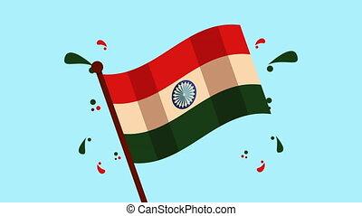 india independence day celebration ,4k video animation
