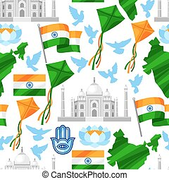 India Independence Day greeting card. Celebration 15 th of August