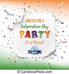 India Independence day party poster. - India Independence...