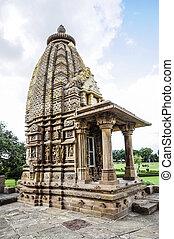 india., khajuraho, świątynia