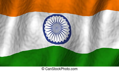 india, looping, achtergrond, vlag