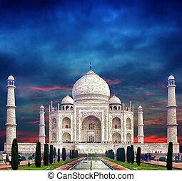 india., mahal, indien, taj, palais