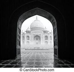 india., mahal, indio, taj, palacio
