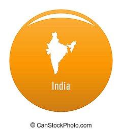 India map in black simple