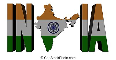 India map text with flag