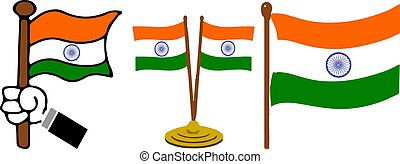 India national flag. Vector illustration.