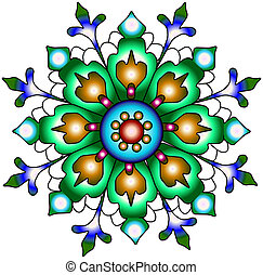 India ornament. Paisley seamless pretty
