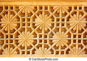 india ornate decoration background sandstone