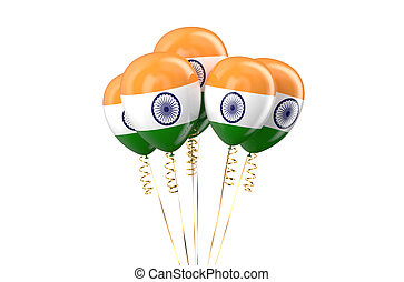 India patriotic balloons holyday concept