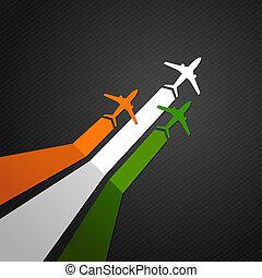 India plane vector