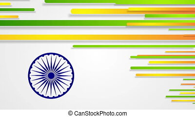 India Republic Day 26 January abstract video animation -...