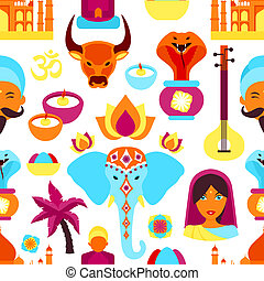 India seamless pattern