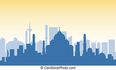 India silhouette architecture buildings town city country travel