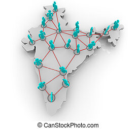 India Social Network - A social network of people in the...