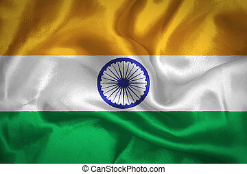 Closeup India Flag Waving In The Wind High Resolution