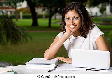 indiai, diák
