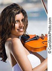 indiai, hegedűművész