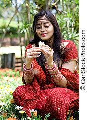 indiai, nő, noha, menstruáció