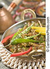 indian, スパイス, ba, なす, 食物