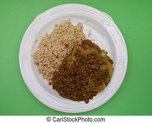 indian, ナス, 皿, punjabi
