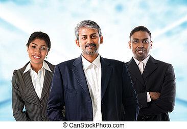 indian, ビジネス, team.
