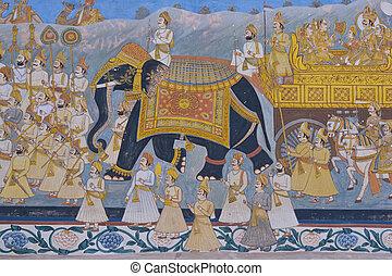 indian, 壁画