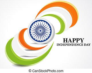 indian, 旗, 日, 背景, 独立