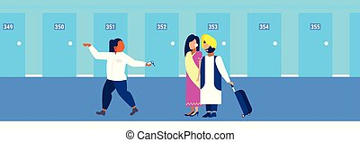 indian, 概念, 歓迎, 部屋, スタッフ, 先導, 提示, ホテル, 観光客, 伝統的である, マネージャー, ...