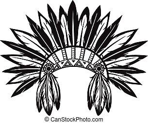 indian, 頭飾り