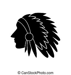 indian american usa silhouette