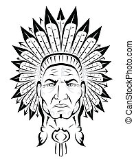 indian americano, chefe