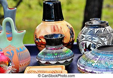 Indian artisan in Sedona Arizona