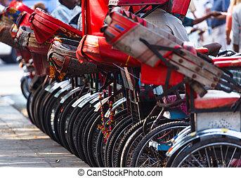 Indian bicycle parking