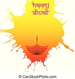 indian big festival diwali poster design - colorful...