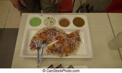 indian breakfast food in plate