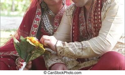 Indian bride groom bouquet