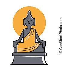 Indian Buddha deity for travel landmarks - India travel...