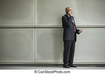Indian Business man using a Cell Phone.