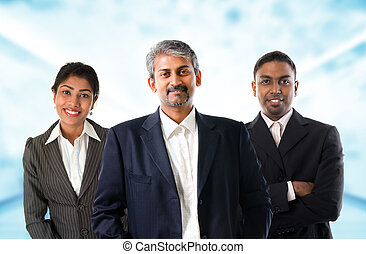 Indian business team.
