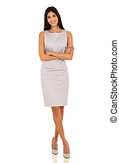 indian business woman with arms crossed